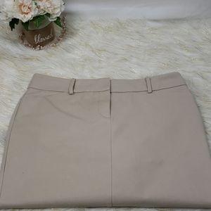 New York and Company Stretch Khaki Skirt